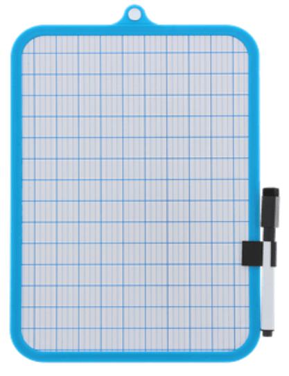 Whiteboard wisbordje in het blauw
