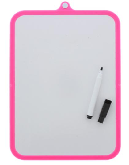 Whiteboard wisbordje in het roze