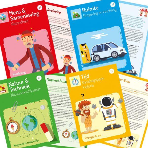 Startcards: verzameling informatieve tekstkaarten wereldoriëntatie