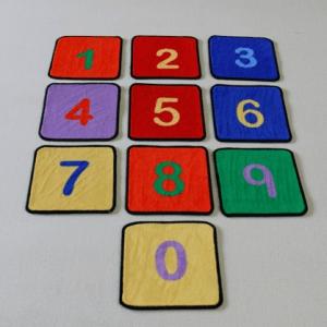 Beweegmatjes cijfers: set 35 stuks