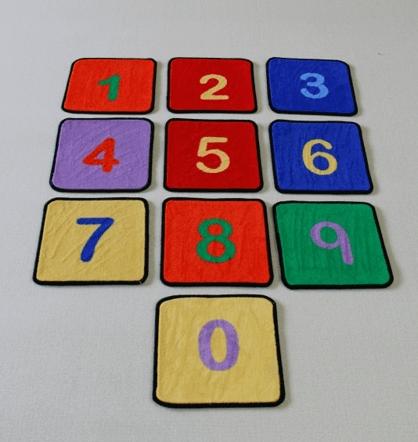 Beweegmatjes cijfers voor bewegend leren