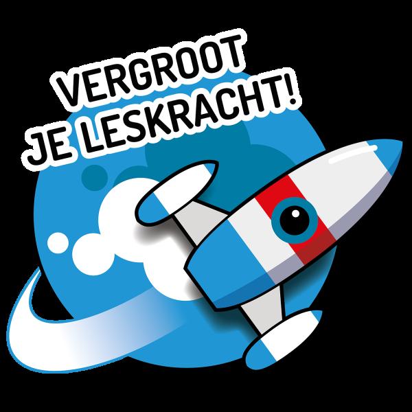 Vergroot je Leskracht logo met raket